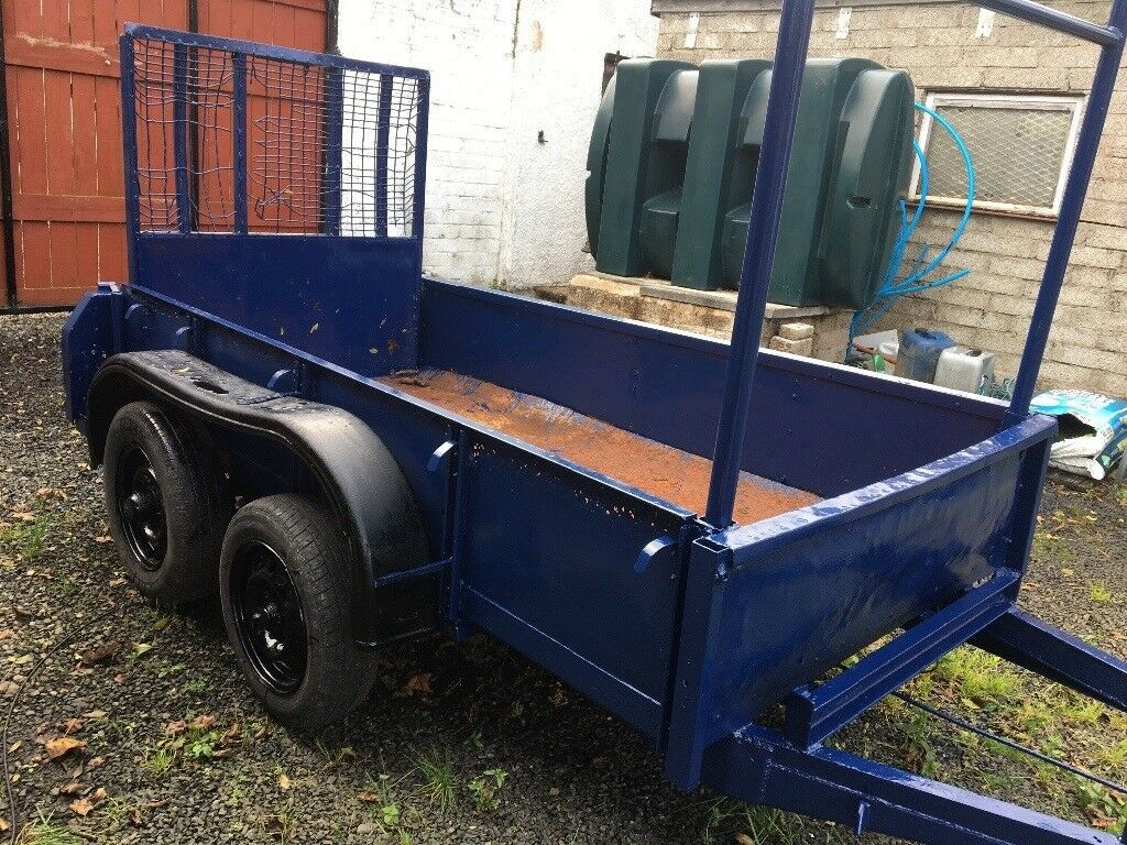 DOUBLE AXEL STEEL CAR TRAILER FOR SALE £380