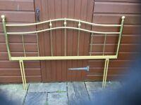 King size brass headboard
