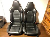 Porsche Boxter Black Leather seats