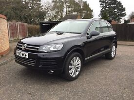volkswagon toureg 3.0 tdi V6 SUV 4WD automatic,BLACK, ALLOY WHEELS, leather seats heated,AC,satnav,