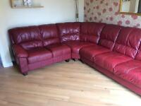Red Dfs Corner sofa