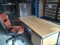 Office Desk and Draw Cabinet with new Chair