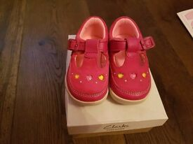 Collection of Clarks girls shoes sized 4