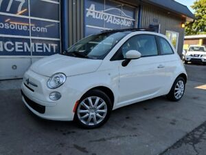 2012 Fiat 500 Pop + Toit + Automatique