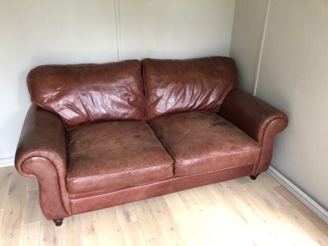 Pleasant Old Laura Ashley Leather Sofa Bed In Lymington Hampshire Gumtree Download Free Architecture Designs Embacsunscenecom