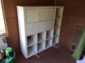 White IKEA modular storage unit