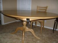 Ercol Oval Oak Dining Room Table plus 4 chairs