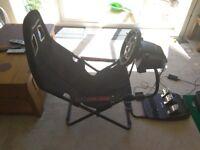 Logitech G29 steering wheel and Playseat Challenge