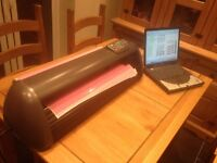 Cutter Plotter, Heat Press and Laptop top complete setup. Sign Writing, T-Shirt, Cup, Hat, Vinyl