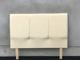 Leather headboard cream