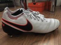 Brand-new, unused, unworn and in box Nike Tiempo Legacy II Football Boots. Men's U.K. Size 6.