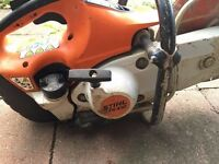 Stihl TS410 saw and diamond blade in good working order.
