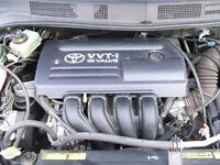 GENUINE 2001-2008 TOYOTA AVENSIS 1.8 VVTi ENGINE 140 BHP 52,000 MILEAGE COVERED ONLY