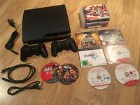 PlayStation 3 Slim console, 2 pads, 13 games