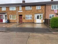3-bedroom house with drive and garden