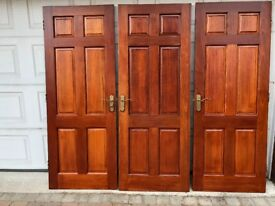3 Solid Mahogany doors for sale