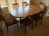 G-PLAN EXTENDABLE TABLE WITH 6 CHAIRS, FREE DELIVERY