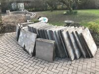 Concrete slabs free collection only 16 @ 3 x 2 and 40 @ 2 x 2.