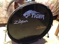 Tiger 5 piece drum kit £130