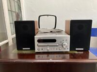 Yamaha CD player/receiver CRX-D430 with speakers .