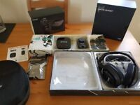Astro A40 Gaming Headset, MixAmp 5.8 Wireless Audio Transmitter & Reciever, Headset Case