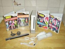 Nintendo Wii Just Dance Bundle