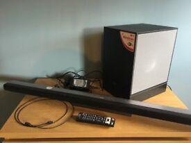 LG ultra slim sound bar and 3D surround processor