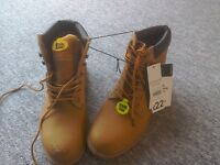 Brand new pair of steel toe boots
