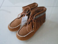 M&S girls size 12 Leather boot Brand new