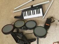 Musical items keyboard and drums