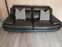 Black leather suite for sale