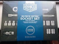 Halfords advance 1/4 & 3/8 socket seta brand new