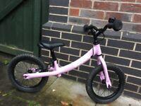 Ridgeback scoot pink balance bike XL