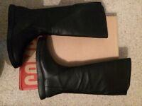 Camper Knee Length Black Boots size 6