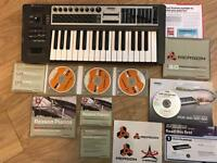 Reason 3.0 music programming software, with Roland Edirol PCR-300 MiDi keyboard