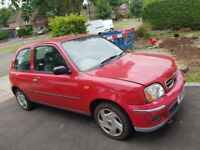 Red Nissan Micra Mint Condition