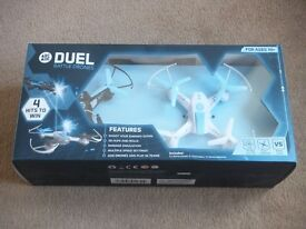 ( New and sealed ) Arcade Duel Laser Fighting /Battle RC Drones ( 2 x drones - white and black )