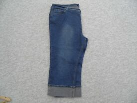 plus size 3/4 denim jeans