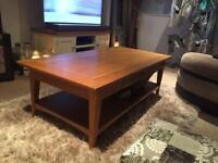 Coffee table and side table. Solid Oak. RRP £600+