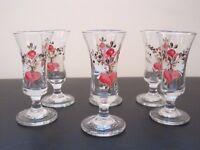 6 HANDMADE LIQUEUR GLASSES - REDUCED