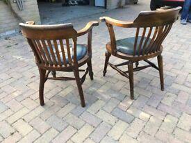 Two vintage Desk/Captain's chairs