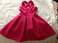 Pink, short fit and flare dress, size 10