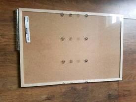2 Ikea cork notice boards. New