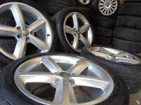 18inch GENUINE S LINE audi A4 A5 b8 ronal 5x112 alloys wheels vw golf mk5 caddy a3 t4 t3