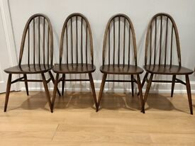 4x Ercol Mid-Century Quaker dining chairs