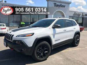 2018 Jeep Cherokee Trailhawk 4x4 V6 w/Leather Cooled Seats, Park
