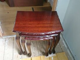 Mahogany John E Coyle nest of tables