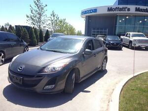 2011 Mazda MAZDA3 SPORT GS w/ LEATHER, SUNROOF, CRUISE, ALLOY WH