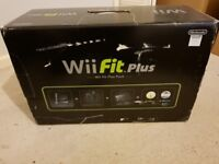 New Nintendo Wii black console Wii Fit Plus