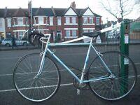 10speed Raleigh Sprint Road Bike Medium 21'' Frame Lightweight Hitensile Steel-Fast Maillard Wheels.